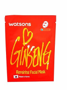 2 Mask Sheets of Watsons Repairing Facial Mask with Ginseng Extract. Which Help Recharge Tired and Aged Skin.