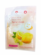 2 Mask sheets of Watsons Oil Control & Moisturising Facial Mask with Witch Hazel & Lemon Water. Made in Korea.