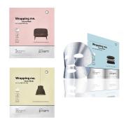 Make p:rem Wrapping me Sauna Mask 30g x 3 Sheet ( Moisture + Whitening + Firming ) Made in Korea