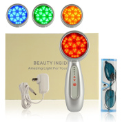 YokPollar Light LED Light therapy, 4 Interchangeable heads, skin rejuvenation, lightens dark spots, promotes collagen and reduce wrinkles and fine lines ageing-resistant