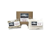 Home Made On The Homestead Lavender Vanilla Hand Made All Natural Bath Salts Gift Set
