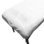 Canyon Rose Disposable Fitted Sheet for Sunless Spray Tanning, White, 0.7kg