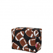 Football Print NGIL Large Cosmetic Travel Pouch