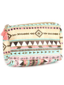 Colourful Aztec Print Cosmetic Makeup Bag or Pouch Wallet