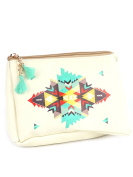 Aztec Print Cosmetic Makeup Bag or Pouch Wallet Feather