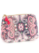Romantic Paisley Print Cosmetic Makeup Bag or Pouch Wallet