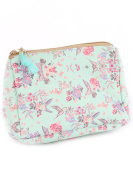 Hummingbird Butterfly Flower Print Cosmetic Makeup Bag or Pouch Wallet