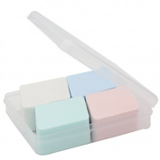 4Pcs Diamond Make Up Sponge Powder Puff Twain Uses for Dry and Wet