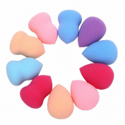 Makeup Puff,Neartime 10pcs Multi Shape Sponges Pro Beauty Flawless Blender Foundation Puff