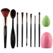 Lisingtool 10pcs Makeup Brush Makeup Sponge Makeup Brush Cleaner Foundation Brush