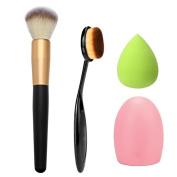 Cosmetic,Lisingtool 4pcs Makeup Brush Makeup Sponge Makeup Brush Cleaner Foundation Brush