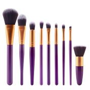 Brush,Lisingtool 9 Pcs Cosmetic Brush Makeup Brush Sets Kits Tools