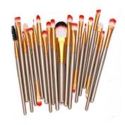 Brush,Lisingtool 20 pcs Wool Make Up Brush Set,Gold