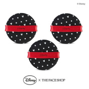 The Face Shop Daily Air Puff Air Fitting Cushion Puff x 3PCS [Disney Collaboration]
