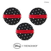 The Face Shop Daily Air Puff Air Fitting Cushion Puff x 3PCS [Disney Collaboration]