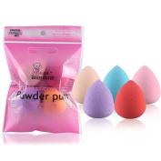 A best Gift, Bigban 5PCS Pro Beauty Flawless Makeup Blender Foundation Puff Multi Shape Sponges
