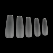 MAKARTT 360pcs/box Coffin False Tips Ultra Thin Clear Full Cover Acrylic False Nails 12 Sizes - for Nail Salons and DIY Nail Art at home