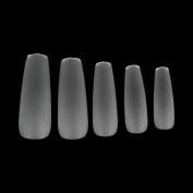 MAKARTT 360pcs/box Coffin False Tips Ultra Thin Clear Full Cover Acrylic False Nails 12 Sizes - for Nail Salons and DIY Nail Art at home