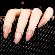 24 Pieces Pink Stone Fake Nails