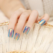 Blue High Light Long False Nails