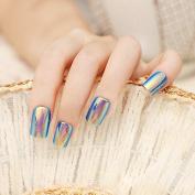 Blue High Light Long False Nails