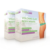 Brazilian Belle Volcanic Clay Body Wrap - Home Spa Treatment Kit for Weight Loss - Perfect for Stomach, Arms, Thighs & More - 100% Natural Ultimate Wraps for a Slimmer Body