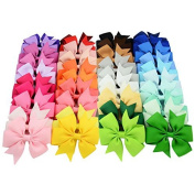 Prohouse(TM) 40Pcs Baby Girl Grosgrain Ribbon Boutique Hair Bows Clips For Teens Baby Girls Babies Toddlers