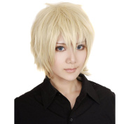 RightOn High Quality Gold Blonde Short Lolita Unisex Beauty Party or Cosplay Wigs