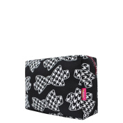 Houndstooth Bow Tie Print NGIL Large Cosmetic Travel Pouch