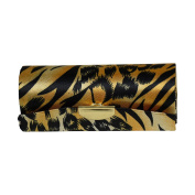 Tan Animal Print Ladies Lipstick Case with Mirror Purse Holder
