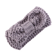 Novolix Baby Hair Band Elastic Knitted Headbands Soft Crochet Band Cute Big Bowknot Knotted Head Wrap for Baby Girls