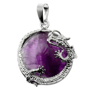 SBParts Pretty Cool Dragon Wrap Purple Teardrop Bead Jewellery Necklace Pendant