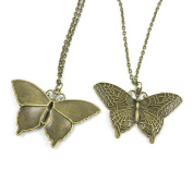 1 Pieces Antique Bronze Fashion Jewellery Making Charms Necklace Costume Sweater Long Chain Pendant XL-GT01413 Butterfly