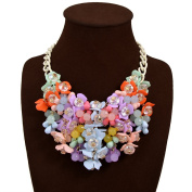 JewelryLove Fashion Multicolor Flower Crystal Choker Statement Bib Necklaces Collier Femme Brand Necklace Pendants Collar