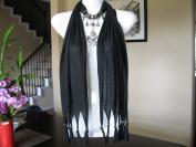 Black Fashion Jewellery Scarf w Jewellery Decoration Fleur De Lis Necklace Pendant