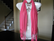 Pink Fashion Jewellery Scarf w Jewellery Decoration Fleur De Lis Necklace Pendant
