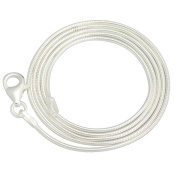 24pcs 18 Inch 925 Shining White Brightening Silver Plated 1.2mm DIY Snake Chain Charms Necklace With Lobster Clasps for Jewellery Making