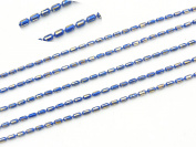 COIRIS 10m Copper Blue Seed Beads Chains Findings Fit for Jewellery Making & DIY