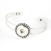 Simple Ever Snaps Bracelets for 18mm Snap Button Charms Jewellery Pack of 2