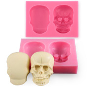 Joinor 3D Skull Silicone Mould Fondant Sugar Clay Jewellery Fimo Button Cake Mould