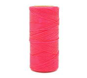 NEON PINK 1.5mm Waxed Polyester Twisted Cord Macrame Bracelet Thread Artisan String