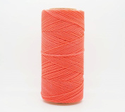 NEON CORAL 1.5mm Waxed Polyester Twisted Cord Macrame Bracelet Thread Artisan String