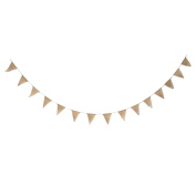 DIY Burlap Bunting Banner kit, DIY Wedding Banner, Pre-strung 15 Flags with Jute Cording