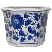 Porcelain Blue and White Flower Pot Blue/White, China