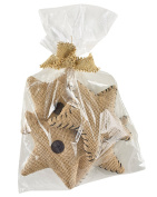 Park Designs Burlap 13cm Star Fills - Set of 4