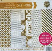 Craft Smith 30cm Paper Pad GOLD FOIL