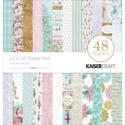 Kaiser Craft Christmas Wishes 30cm x 30cm Paper Pad 48 sheets of 160gsm Designed Paper