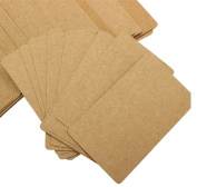 100 Pages Double-sided Kraft Message Card Kraft Paper Card Gift Name Label Tag Card Memo Note Pad Brown