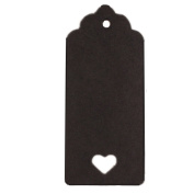 Ximkee 9x4cm Kraft Paper Tag with heart Blank for Wedding Favour Cards,Gift Tag,Christmas gift card,DIY Tag,Luggage Tag,Price Label,Store Hang Tag