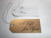 25 Metallic Gift Tags with Elastic String
